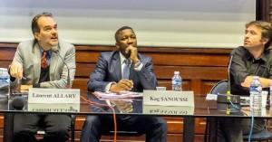 Kag Sanoussi, expert en prévention et gestion des conflits, et Laurent Allary, conseiller auprès du DG de la CFI - Agence française de coopération des médias