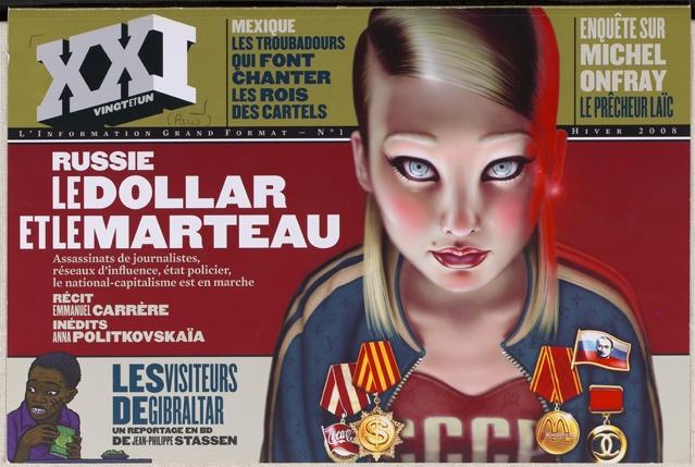 XXI. Premier numéro, hiver 2008 © XXI / Beb-Deum / Quintin Leeds © Rollin publication, Paris 2008 BnF, département Droit, économie, politique – 2012